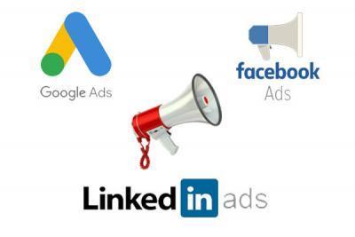 google ads facebook ads linkedin ads