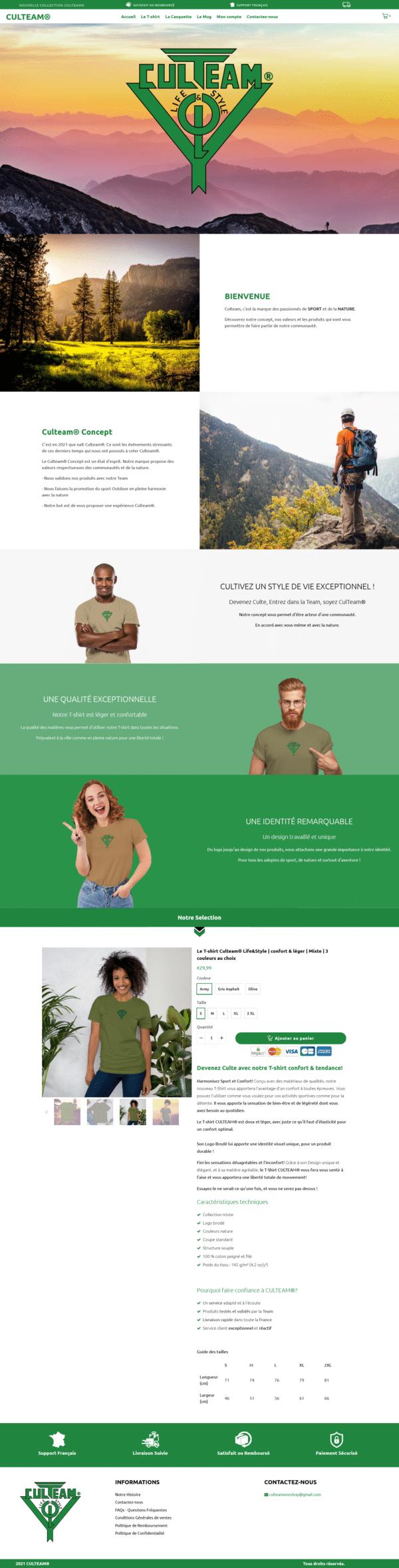 CULTEAM® Life Style - Le T-shirt Ultra Confort Unique