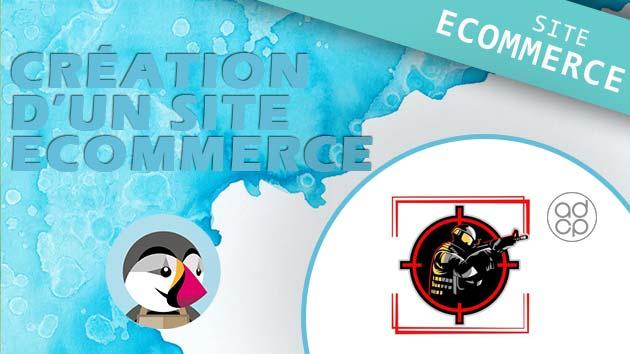 création boutique e-commerce boutique airsoft